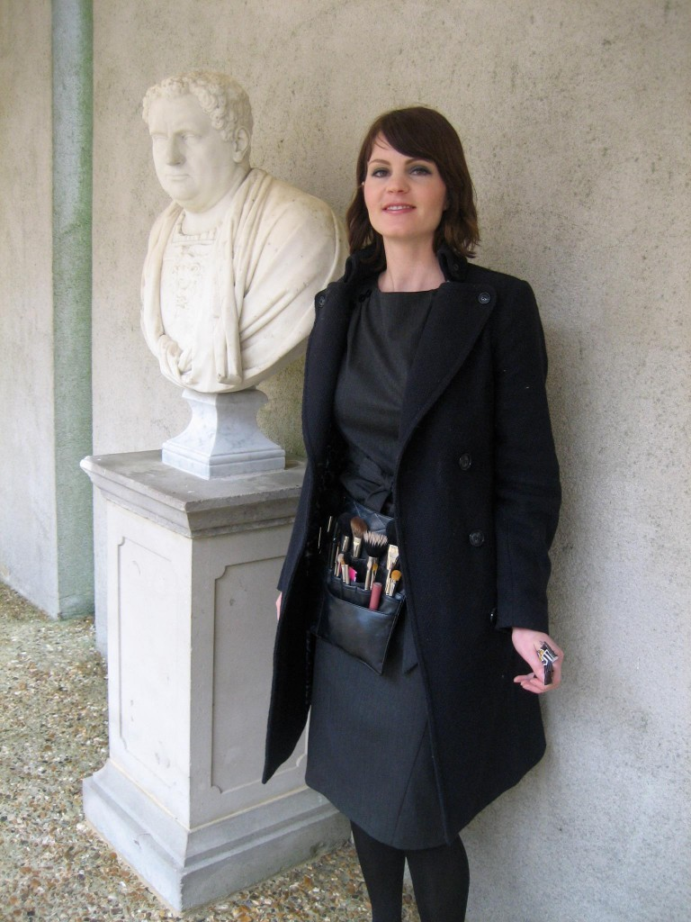 Photo of me looking rather tired after a 5am start at Goodwood House
