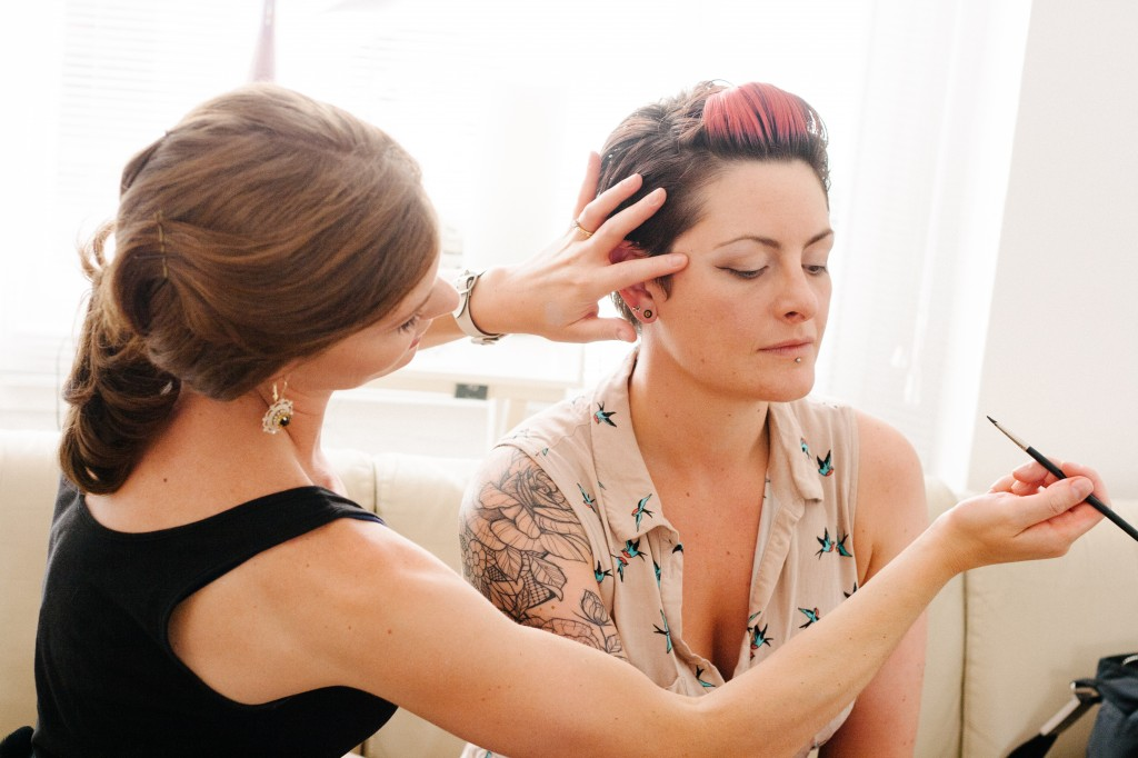 Brittany Jamison Lackey makeup workshop for hen party