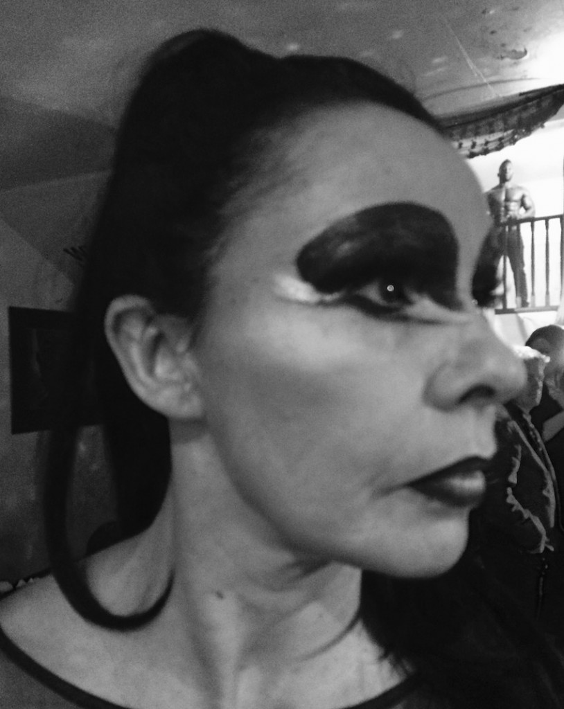 Film makeup for Julie Graham